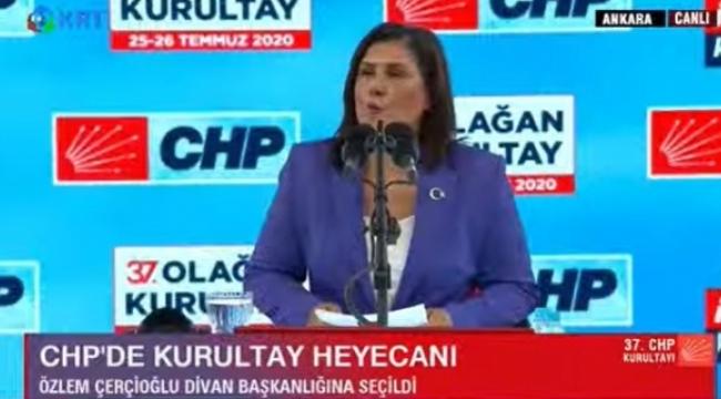 Özlem Çerçioğlu CHP Kurultayına damga vurdu