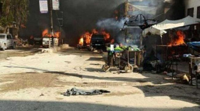 Afrin'de bombalı araçla terör saldırısı düzenlendi: 9 ölü, 43 yaralı