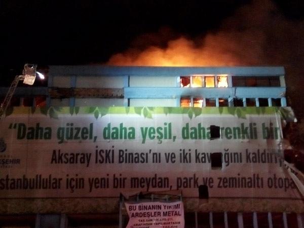 İSKİ Binasında Büyük Yangın