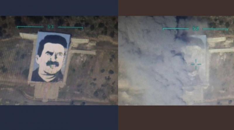 Afrin'deki Öcalan Posteri Paramparça Edilmişti, Onun Yerine Bakın Ne Yerleştirildi!
