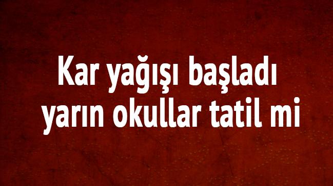 Ankara'da 13 Aralık Yarın Okulla Tatil Mi? Ankara Kar Tatili Var Mı?