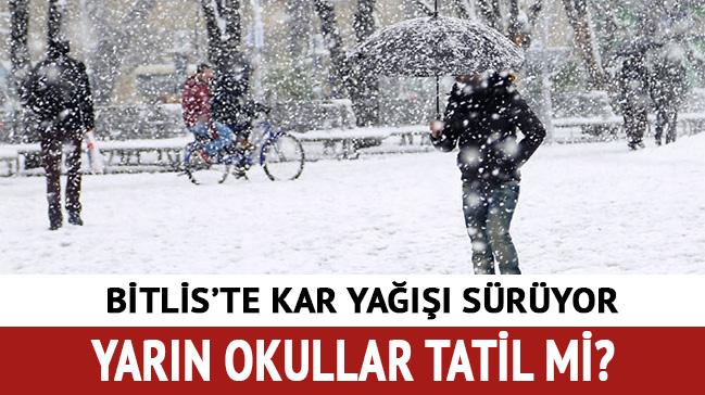 Bitlis'te 13 Aralık Okullar Tatil Mi! Bitlis'te Yarın Okullar Tatil Mi?