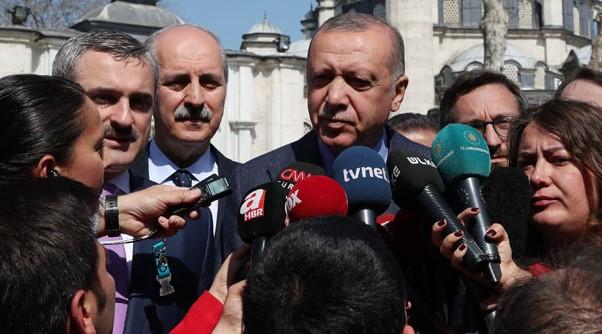 Cumhurbaşkanı Erdoğan'dan Cuma Namazı Çıkışı Flaş İstanbul Açıklaması