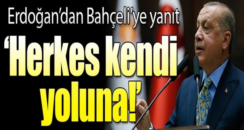 """Cumhurbaşkanı Erdoğan'dan Flaş İttifak Açıklaması: """"Herkes Kendi Yoluna"""""""