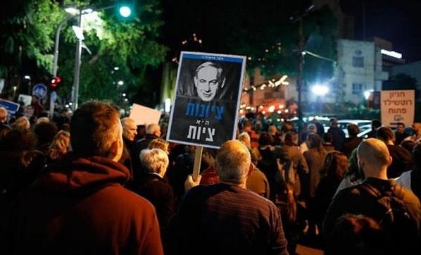İsrail'in Yaptığı Katliama İsrail Halkı da İsyan Etti! Tel Aviv'de Binlerce İsrailli Sokaklara Döküldü