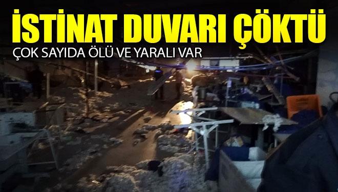 İzmir'de İstinat Duvarı Çöktü, Ölü ve Yaralılar Var