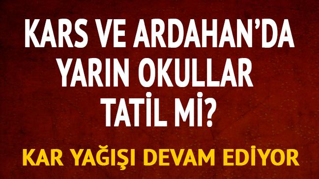 Kars Ardahan Yarın Okullar Tatil Mi 13 Aralık Kars Ardahan Kar Tatili