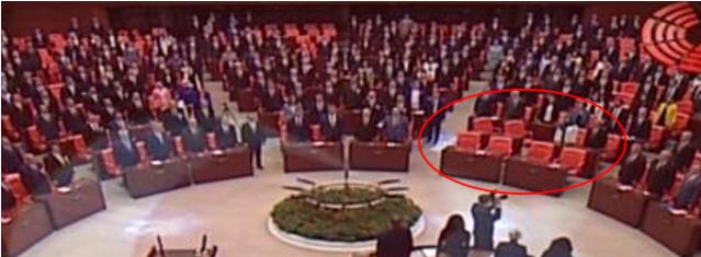 Meclis'te Dikkatlerden Kaçmayan Olay! O İsimler İstiklal Marşı Okunduktan Sonra Geldi