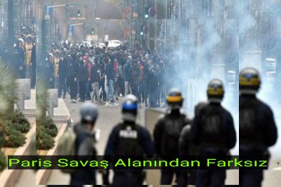 Paris'te Sarı Yeleklilere Ordu Müdahale Ediyor