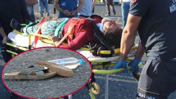Şanlıurfa'da Feci Kaza! Tarım İşçilerini Taşıyan Minibüs Devrildi! 11 Yaralı