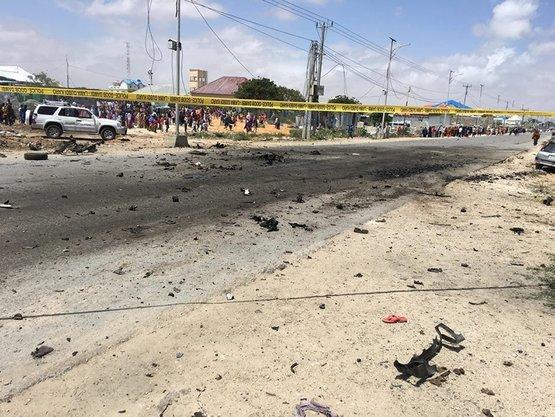 Somali'de AB Konvoyuna İntihar Saldırısı Düzenlendi