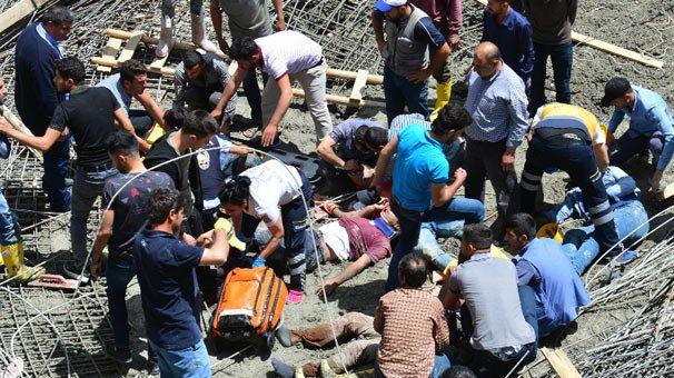 Son Dakika! Şanlıurfa'da Yapımı Süren Külliye Kubbesi Çöktü: Yaralılar Var