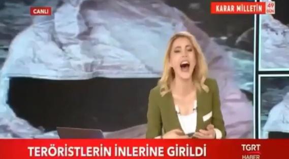 TGRT'de Canlı Yayında Skandal! Spiker, TSK'nın PKK'ya Düzenlediği Operasyonu Sunduktan Sonra Kahkahalarla Gülmeye Başladı