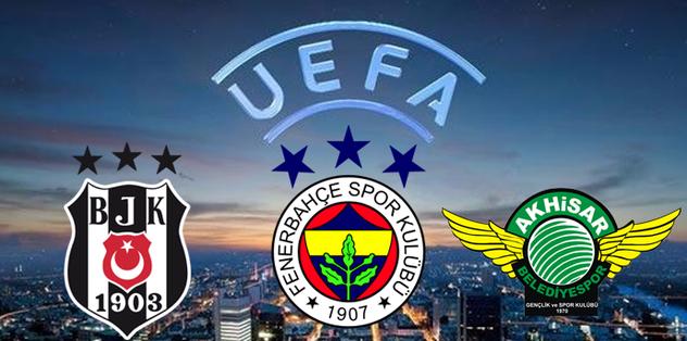 UEFA Avrupa Liginde Temsilcilerimizin Rakipleri Belli Oldu